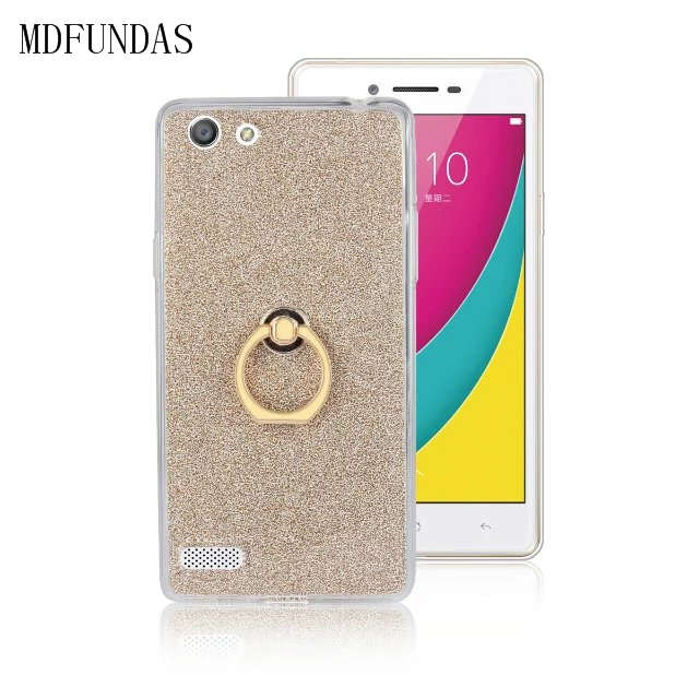 buy popular ade07 c291a US $2.99 |MDFUNDAS For BBK OPPO A33/A33F / Neo 7 /Mirror 5 Lite Case Soft  TPU Coque Fashion Protective Glitter Cover Funda With Ring Skin on ...