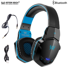 KOTION EACH B3505 Wireless Bluetooth Gaming Headphones For Phone Bass Stereo Headset Headband With Microphone For Computer PC kotion each b3505 wireless bluetooth gaming headset over ear stereo bass music headphone volume control with microphone gamer