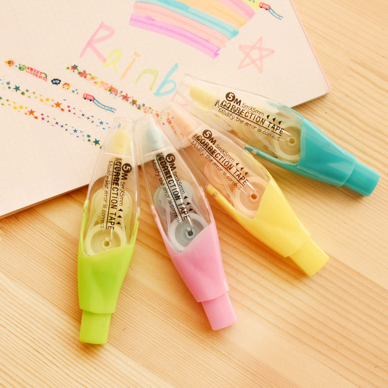 4pcs/lot Sweet Candy Color Plastic Correction Tape For Kids Student Gift School Supplies Korean Stationery Free Shipping