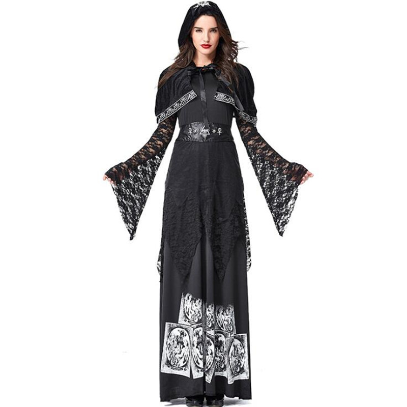 Deluxe Quality Womens Wizard Witch Costume Halloween Adult Cosplay Clothing