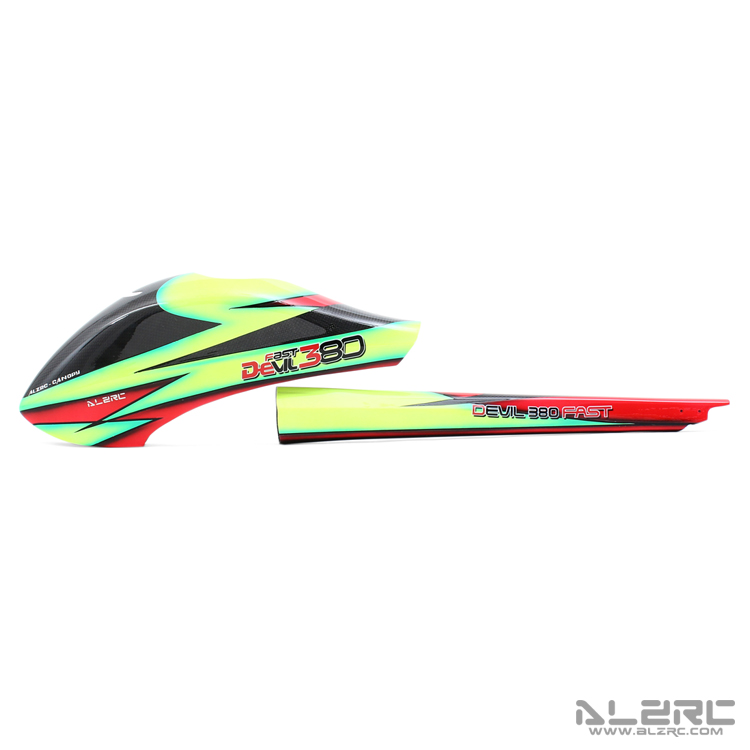 ALZRC - Devil 380 FAST 3K pure carbon painted shell suit /A D380CP-3K-A alzrc devil 380 fast carbon fiber body side plate 1 2mm d380f21 12