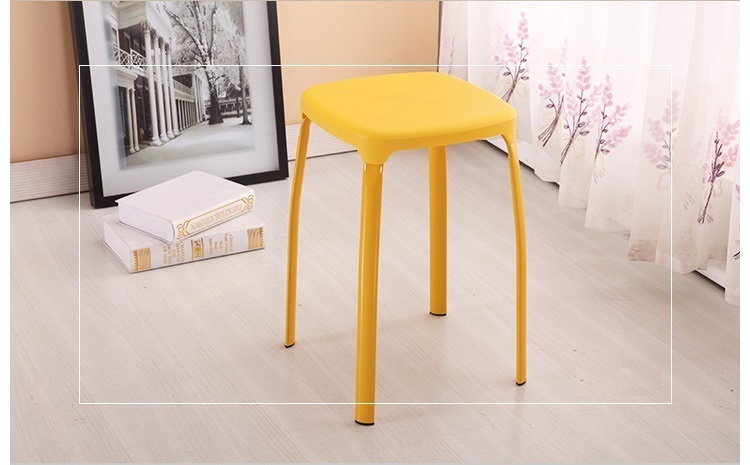 Bathroom plastic PP material stool pure yellow color Computer PC stool retail wholesale free shipping все цены