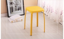 Bathroom plastic PP material stool pure yellow color Computer PC stool retail wholesale free shipping
