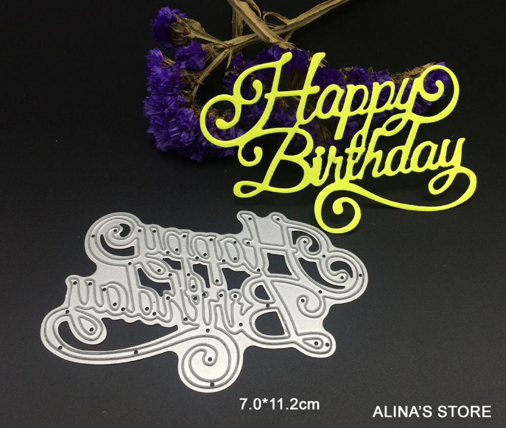 Metal Craft Letters Alluring Wish Letters Happy Birthday Metal Cutting Dies Scrapbooking Inspiration