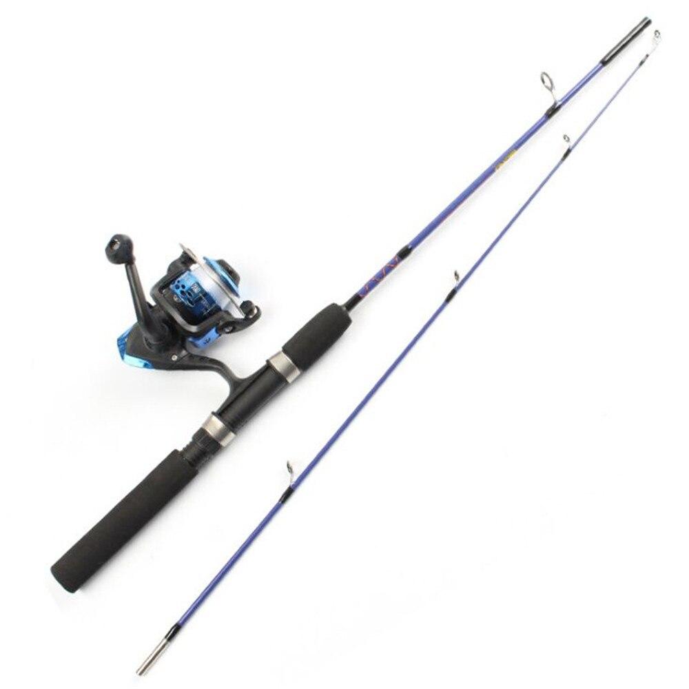 Fulljion Portable Telescopic Winter Ice Fishing Rods with Reels Combo Sea Raft Fishing Rod Fishing Tackle
