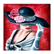 5D DIY Diamond Painting Hat Beauty Cross Stitch Full Embroidery Flowers Home Decoration Mosaic Z594