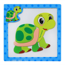 15*15*0.5cm Cartoon Animals Vehicle 3D Wooden Magnetic Puzzles Early Education Puzzles Educational Toys & Hobbies. PY042