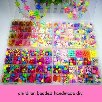Bracelet singulier enfants perlé à la main matériel de bricolage sac bracelets fait perle chaîne maison