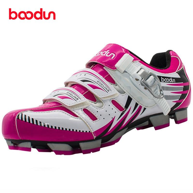 BOODUN Women Road Cycling font b Shoes b font Mtb Sapato Bike Chaussure Vtt Self locking