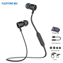 PLEXTONE BX325 Magnetic Wireless Earphones Sport Running Bluetooth Headsets with Mic Stereo Headphones For iPhone Xiaomi Android