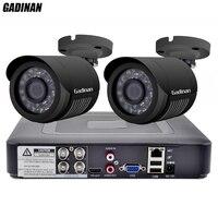 GADINAN 4CH AHD DVR система видеонаблюдения с 2 шт. 2MP 1080 P дополнительная Водонепроницаемая камера видеонаблюдения камера комплект видеонаблюдения