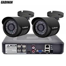 GADINAN 4CH AHD DVR Beveiliging Cctv systeem met 2 STKS 2MP 1080 P Optioneel CCTV Camera Waterdichte Camera Video Surveillance Kit