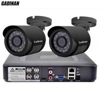 GADINAN 4CH AHD DVR Security CCTV System With 2PCS 720P 960P 1080P Optional CCTV Camera Waterproof