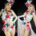 See-through dress бабочка женский костюм современный танец DS DJ ночной клуб бар певица танцор star производительность ночной клуб шоу