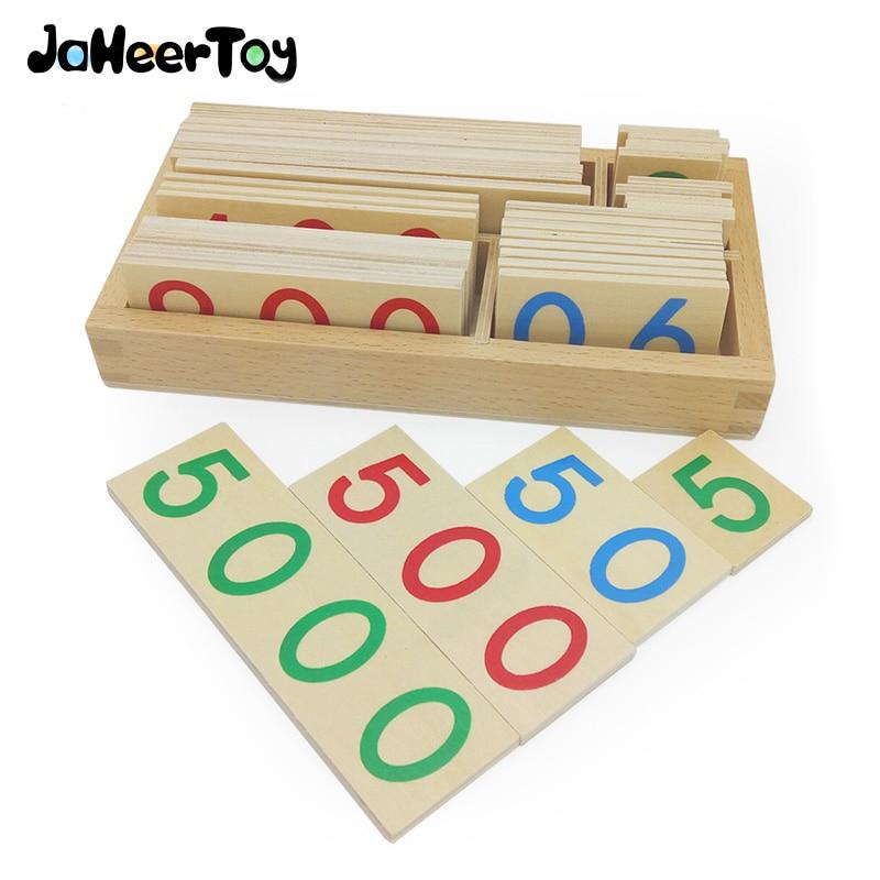 JaheerToy Math Toys Montessori Teaching Aids Educatief speelgoed voor kinderen Duizenden honderden Ten Cijferige digitale cognitie