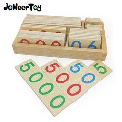 JaheerToy juguetes de matemáticas Montessori, juguetes educativos para niños, miles de cientos de diez dígitos de conocimiento Digital