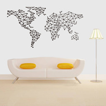 New style Geometric map waterproof Sticker Living room bedroom decoration stickers Removable Creative PVC DIY wallpaper