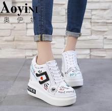 7a4a078edf4260 Ultra High Heels 12cm 2018 Autumn Fashion Women High Heeled Elevator Shoes  Glitter Wedges Sequin PU