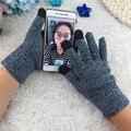 Мужская многофункциональный Трикотажные Экран Зимние Перчатки Мягкий Теплый Варежки для iPhone Смартфонов Ноутбуков Tablet