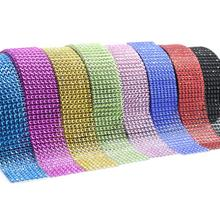 Mesh Trim Bling Diamond Wrap Cake Roll tulle 90cm DIY Crystal Ribbons Party  Wedding Decoration event e2e062e21217