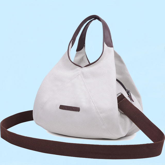 Single Canvas Hobo Bag Casual Crossbody Small Women Famous Brand Handbag Designer Shoulder Bags 2018