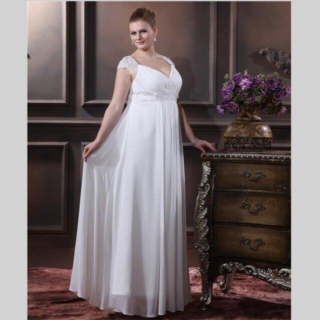 blanco largo de la vendimia vestidos de novia 2016 barato cap manga