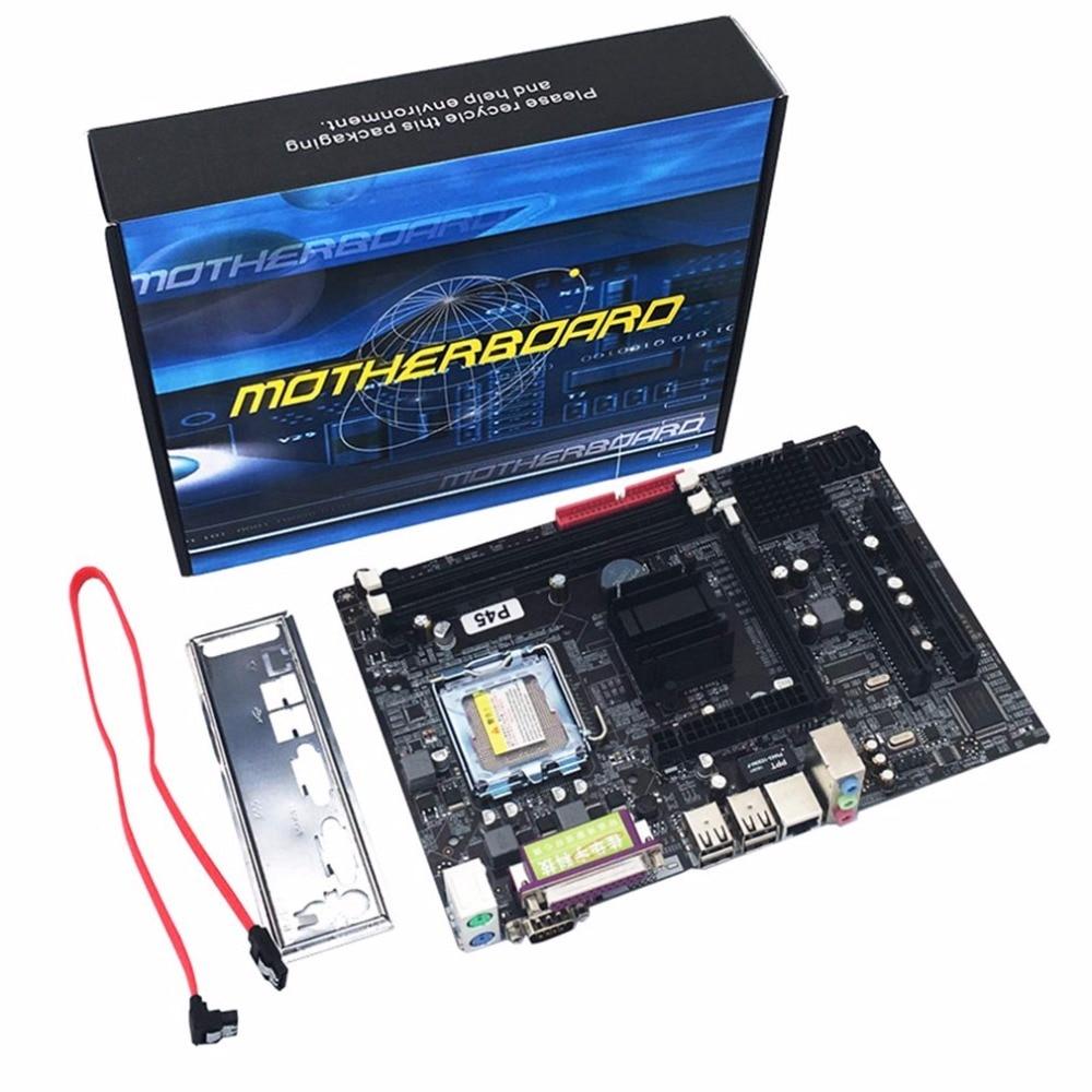Carte mère professionnelle P45 Socket LGA 771 DDR3 mémoire 8 GB ordinateur carte mère prise en charge Xeon CPU puce Audio 6 canaux