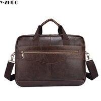Genuine Leather Men Briefcase 14