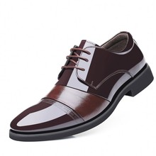 Genuine Leather Oxford Shoes For Men Dress Shoes Fashion Business Pointed Toe Men Formal Wedding Shoes DA082 недорого
