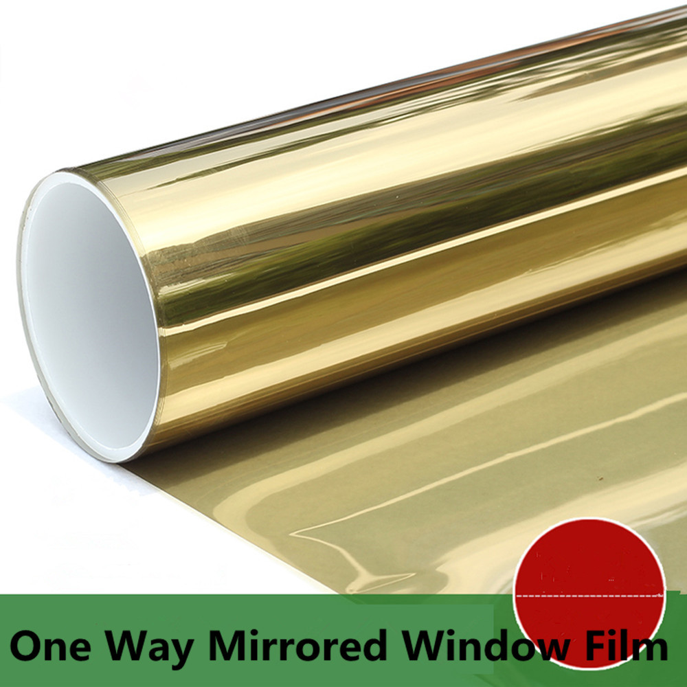 SUNICE or miroir isolation solaire teinte fenêtre Film autocollants UV réfléchissant One Way intimité décor verre fenêtre teinte 0.76x30 m