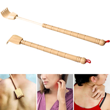 Extendable Back Scratcher Bamboo Wooden Telescopic Flexible Anti Itch Self Massager Claw Extender DC88