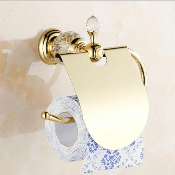 De luxe en cristal en laiton or boîte de papier porte rouleau wc ...