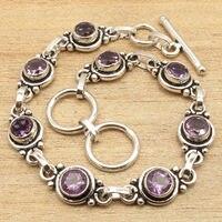 Natuurlijke AMETHISTEN Gems Delicate Sieraden Armband 7 1/2