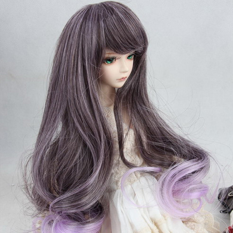 1PCS Retail 1/3 1/4 1/6 SD BJD Doll Wigs Long High-temperature Wire Curly Wig For Dolls fashion red hair extension fur wig 1 3 1 4 1 6 bjd wigs long wig for diy dollfie