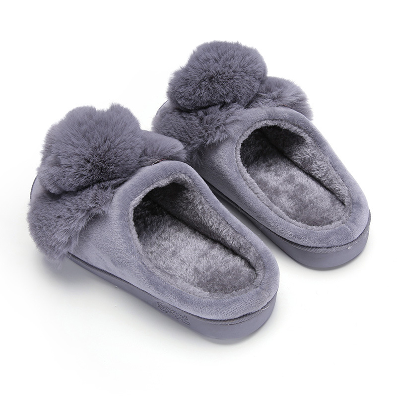 Women Winter Home Slippers Ladies Rabbit Animal Prints Fur Warm Slides Indoor Soft Casual Shoes for Women Sandals Plus Size 1