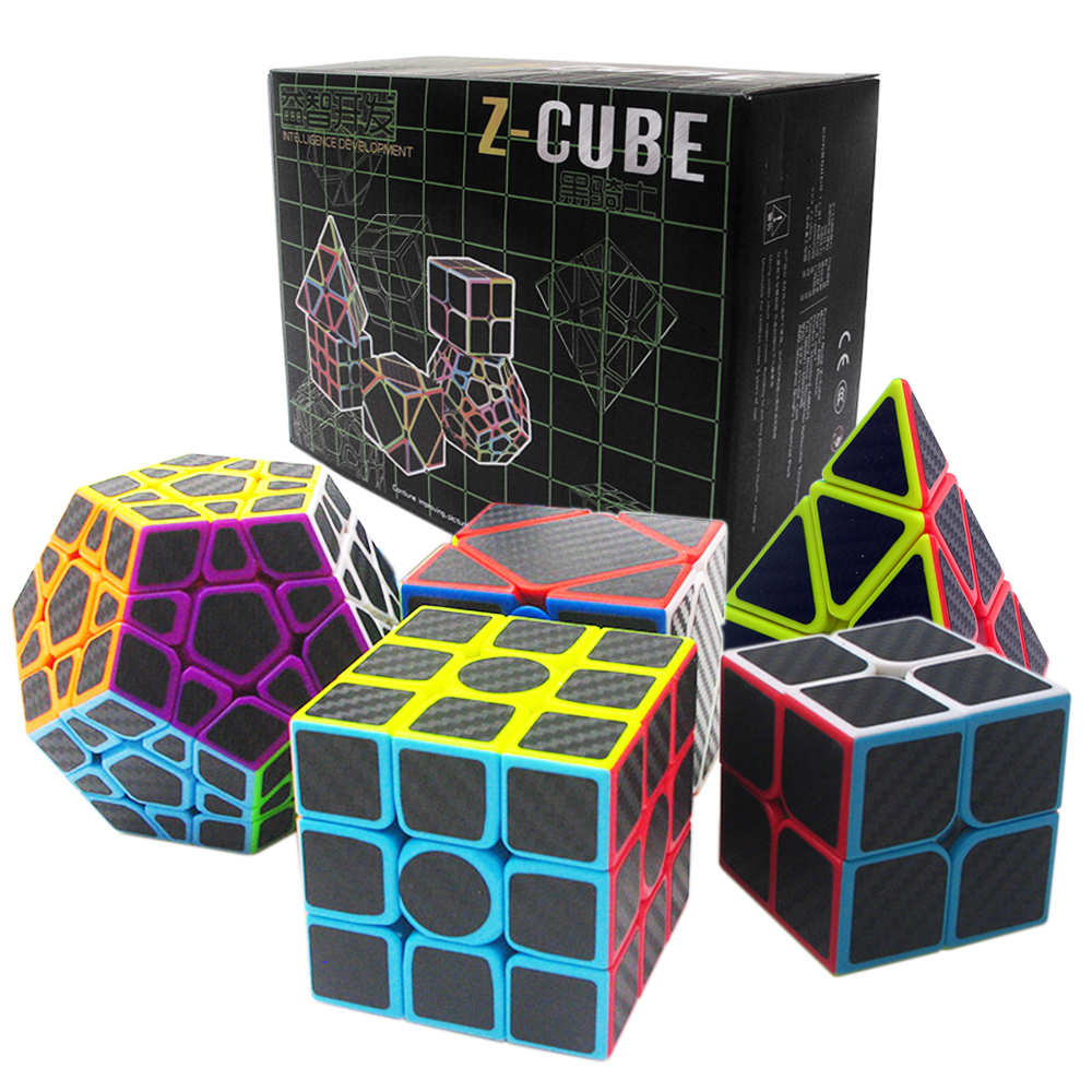 Birthday Gift 5PCS/set 2x2x2 3x3x3 Speed Skew Cube Megaminx Professional Magic Cube for Boy ZCUBE's Cubes 2*2 3*3 on 3 cube cubie 120 boy 2014