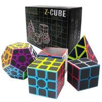 Verjaardagscadeau 5 Stks/set 2x2x2 3x3x3 Speed Pyraminx Skew Cube Megaminx professionele Magic Cube voor Jongen ZCUBE's Cubes 2*2 3*3 op 3