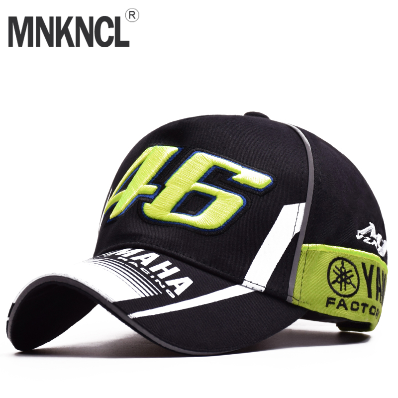 High Quality MOTO GP 46 Motorcycle 3D Embroidered F1 Racing Cap Men Women Snapback Caps Rossi VR46 Baseball Cap YAMAHA Hats