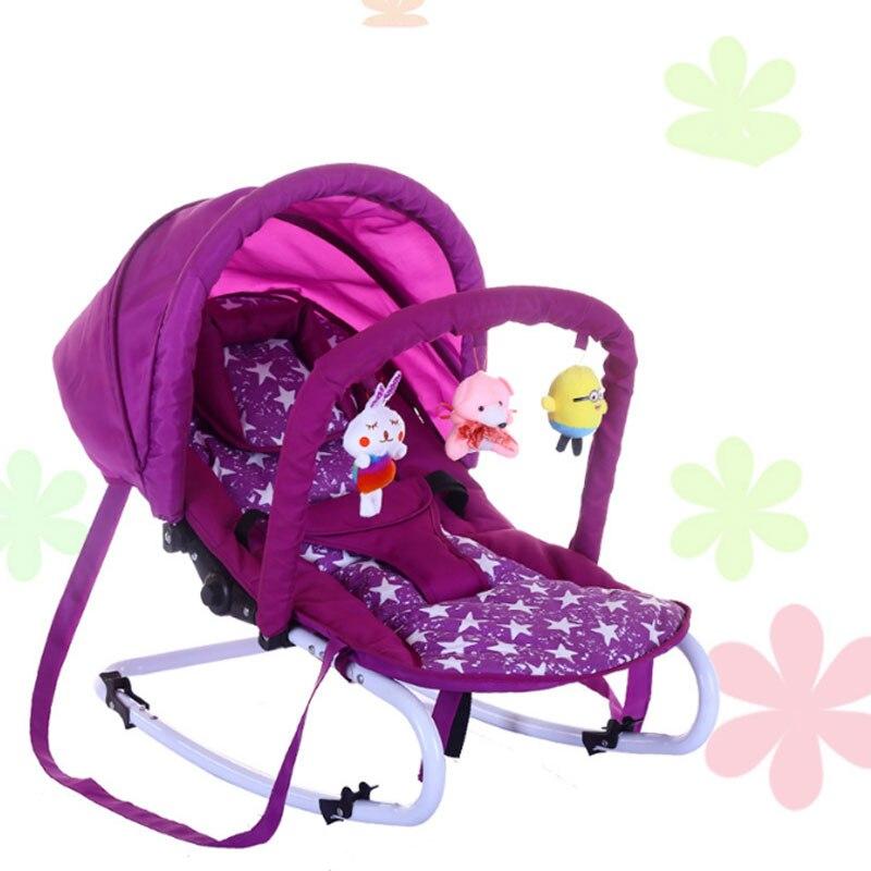 Портативный детские качалки ChairMultifunctional новорожденных Колыбель для размещения лежащие ребенка, игрушка полка и подушечкой ...