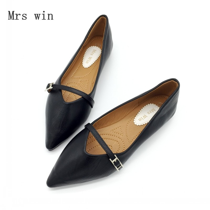 2018 Shoes Women Ballet Flats Shoes Slip-On Spring Autumn Woman Single Shoes Ladies Females Pointed Toe Footwear Zapatos Mujer jiasuer spring fashion women shoes pointed toe slip on flat shoes woman comfortable single casual flats size 35 41 zapatos mujer