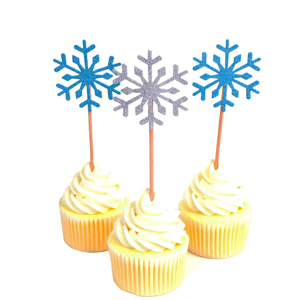 Outstanding Knv Ivd Lmsibvt Vairvim 30Pcs Snowflake Cupcake Toppers Baby Birthday Cards Printable Benkemecafe Filternl