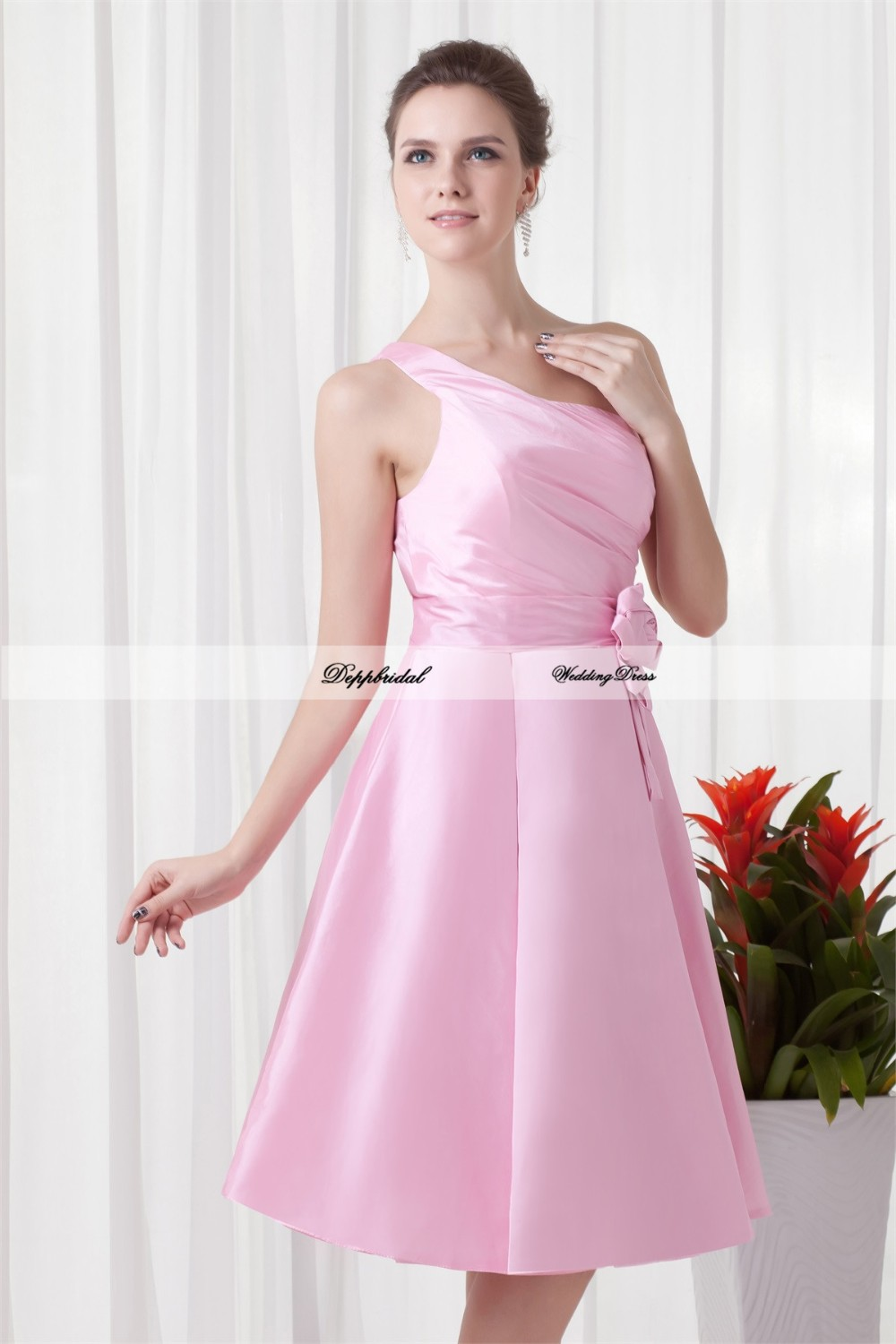 Handmade-Flower-s-A-Line-Tea-Length-One-Shoulder-Bridesmaid-Dresses-22708-80845