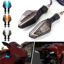 2 мигалки мотоцикла светодиодный указатель поворота для крейсера Honda Kawasaki BMW Yamaha указатель поворота для мотоцикла передний задний 2 шт. сигнальная лампа