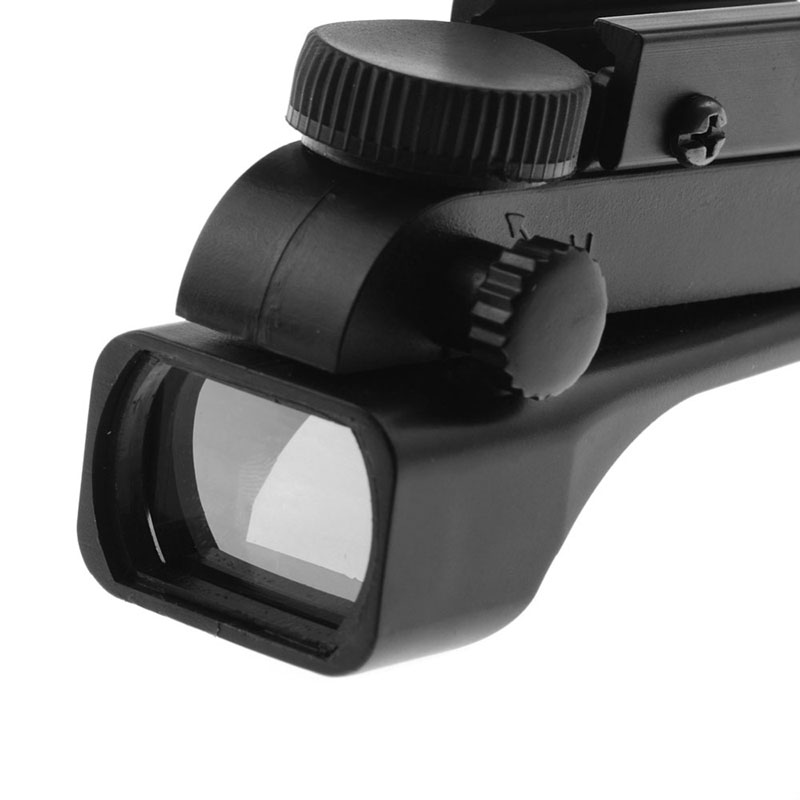 Tactical Wide View Airgun Riflescope 10/20mm Reflex Sight Red Dot Weaver Rail Mounts Airsoft Sight Scope 1