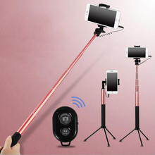 Mirror Selfie Stick Tripod For iPhone 6 6s plus 5 5s Samsung Xiaomi 3 5mm Handheld