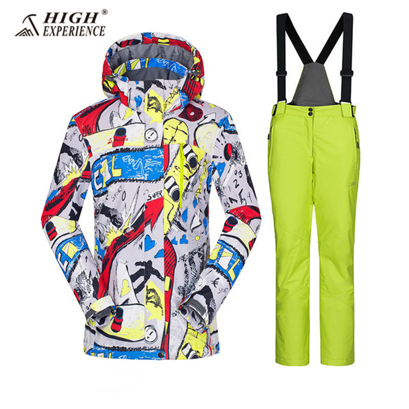 Winter Suit Ski Suit Women Snowboard Suit Female Winter Jacket Snow Pants Women Snowboard Skiing Ski Jacket Women Snow Suit Warm