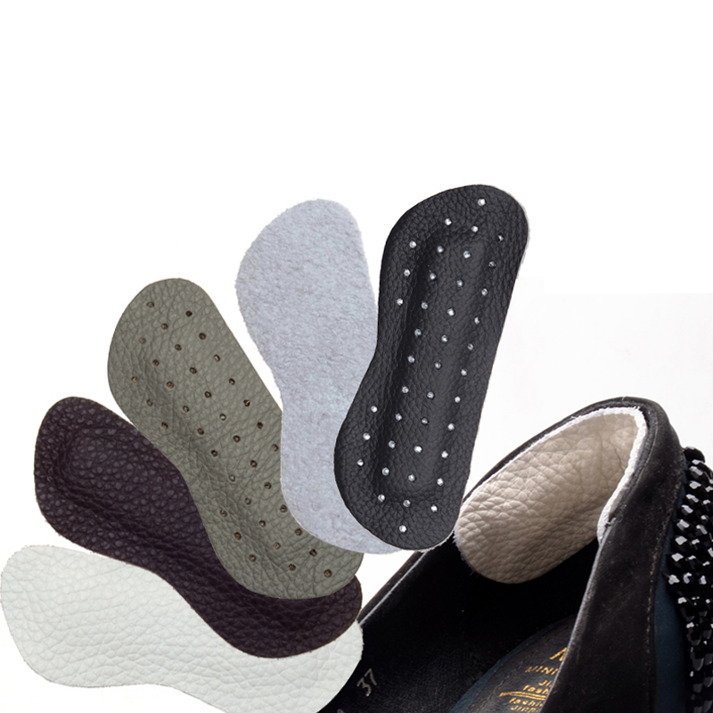 JUP 1 Pair Genuine Leather Gel Silicone Shoe Pad Insoles women's high heel Cushion Protect Comfy Feet Palm Care Pads Foot Wear 2 pairs gel silicone shoe pad insoles women s high heel cushion protect comfy feet palm care pads accessories