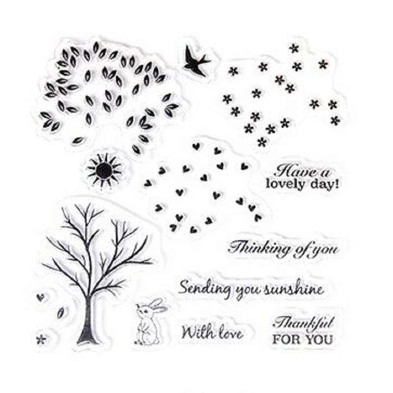 1pc TPR Silicon Clear Stamp Cute Little Tree Series DIY Scrapbooking/Card Making/ Decoration Supplies цена