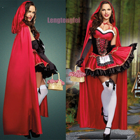 Halloween Costumes For Women Sexy Cosplay Grow A Little Red Riding Hood Nightclub Queen Role Playing