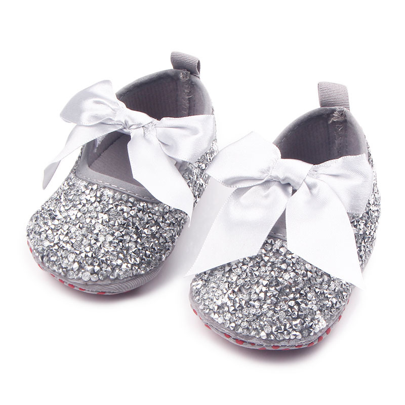 Luxury Bling Bling Girl First Walkers Fashion Rhinestone Baby Shoes Princess First Walkers Bling Soft Sole Girls